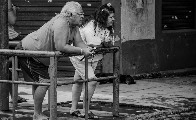Altes Ehepaar im Alltag