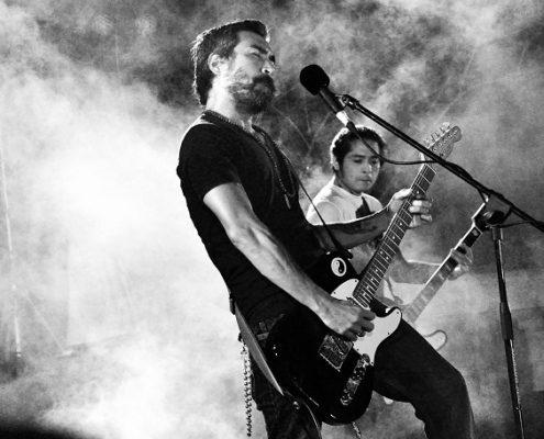 Band mit E Gitarren