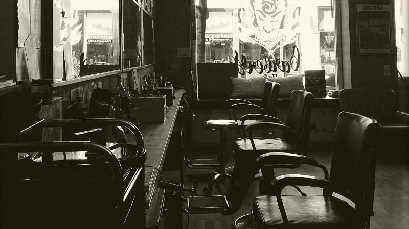Barbershop mit Ledersesseln