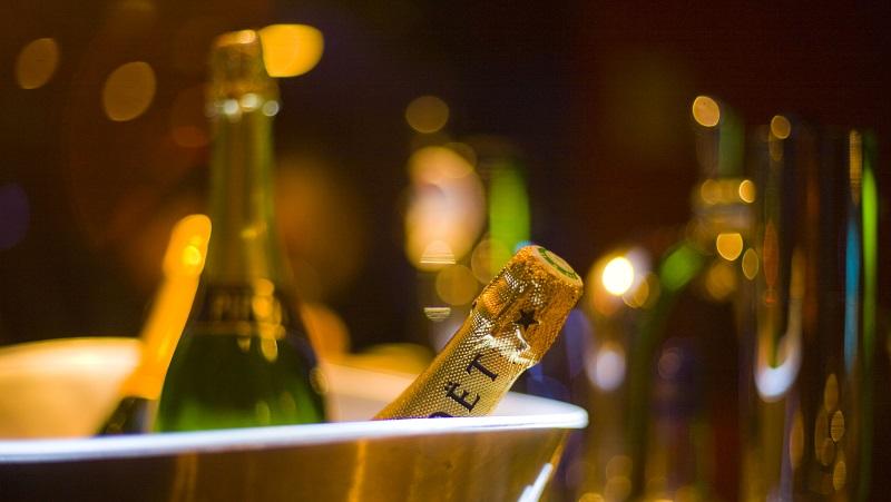 Moet Champagner im Kühler