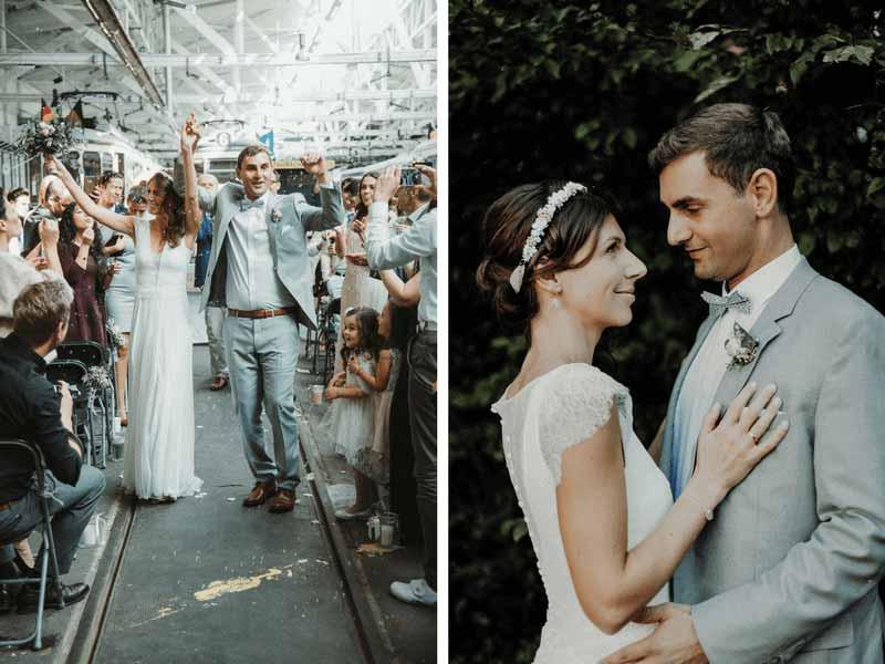 Braut-und-Bräutigam-auf-Hochzeit